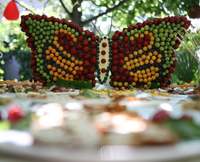 Metulj napikan s sadjem